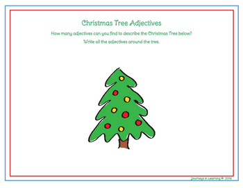 Christmas Adjectives by Journeys in Learning | Teachers Pay Teachers
