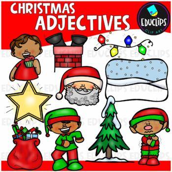 Christmas Adjectives Clip Art Bundle {Educlips Clipart}