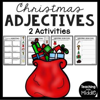 Christmas Adjectives Worksheet