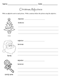 Christmas Adjectives Worksheets / Parts of Speech Worksheets