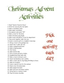 Christmas Advent Activities