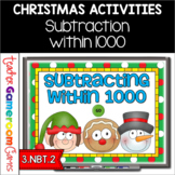 Subtraction within 1000 Christmas Powerpoint Game