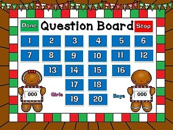 Boys vs. Girls Rounding Numbers Christmas Powerpoint Game
