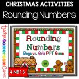 Boys vs. Girls Rounding Numbers Christmas Powerpoint Game