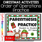 Parenthesis Practice Christmas Powerpoint Game