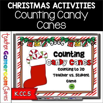 counting christmas candy canes powerpoint game - Christmas Candy Games