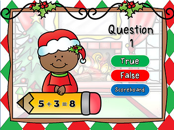 True or False Christmas Math Facts Powerpoint Game