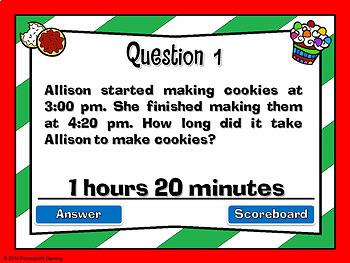 Elasped Time - Christmas Powerpoint Game