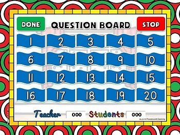 Number Patterns Christmas Powerpoint Game