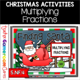Multiplying Fractions Christmas Powerpoint Game