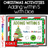 Adding Within 5 Christmas Powerpoint Game