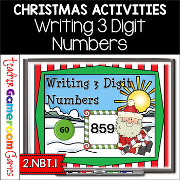 Writing 3 Digit Numbers Christmas Powerpoint Game