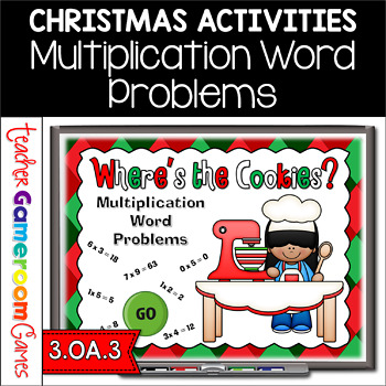 Multiplication Word Problems Christmas Powerpoint Game
