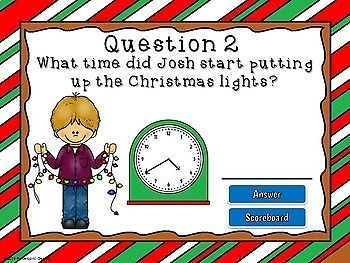 Telling Time with Christmas Activities Game