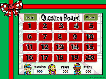 Missing Numbers in Multiplication Christmas Powerpoint Game