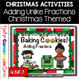 Baking Christmas Cookies - Adding Fractions Powerpoint Game