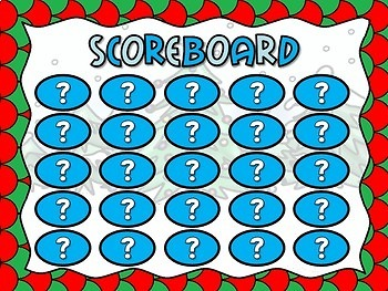 Subtracting within 25 Christmas Bingo Powerpoint Game