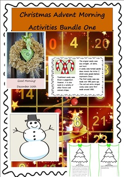 Christmas Advent Morning Activities Bundle One