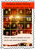 Christmas Advent Morning Activities Bundles One and Two
