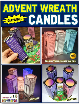 Christmas Advent Wreath: Glowing Candles