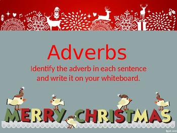 Christmas Adverb Power Point
