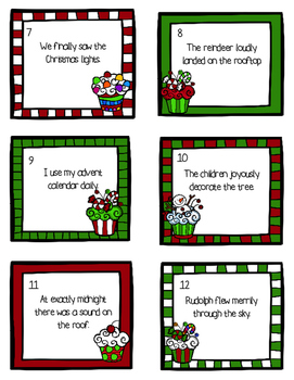 Christmas Adverbs Activity Pack - Task Cards and More