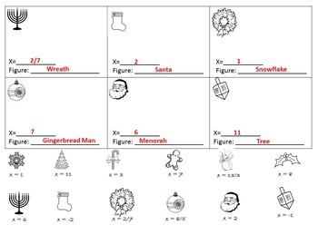 Algebra Christmas Activity {Christmas Algebra Activities} {Christmas Algebra 1}