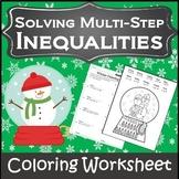 Christmas Algebra Activities{Algebra Christmas } {Solving Inequalities Activity}