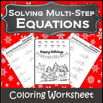 Algebra Christmas Coloring {Christmas Algebra 1 and 2 Activity}
