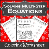 Christmas Algebra Coloring {Christmas Algebra 1 and 2 Activity}