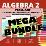 Christmas Algebra 2 BUNDLE: Math Pixel Art