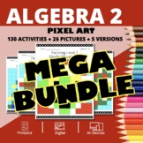Christmas Algebra 2 BUNDLE: Math Pixel Art Activities