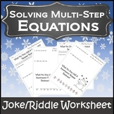 Solving Equations Review {Solving Multi Step Equations Activity}{Winter Algebra}