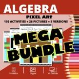Christmas Algebra BUNDLE: Math Pixel Art Activities