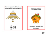 Christmas Algebra Bellringer Task Cards: Will Santa Fit?