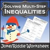 Christmas Algebra Activity {Algebra Christmas } {Solving Inequalities Activity}