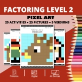Christmas: Algebra Factoring #2 Pixel Art Mystery Pictures