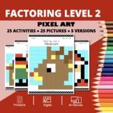 Christmas: Algebra Factoring Level 2 Pixel Art