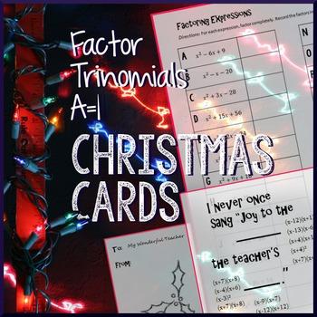 Christmas Algebra - Factoring a=1