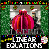 Christmas Algebra Graphing Linear Equations 3D Ornament