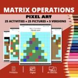 Christmas: Algebra Matrix Operations Pixel Art Mystery Pictures