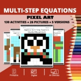 Christmas: Algebra Multi-Step Equations Pixel Art Mystery