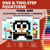 Christmas: Algebra One & Two-Step Equations Pixel Art Myst