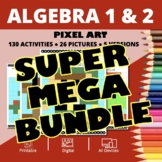 Christmas Algebra SUPER MEGA BUNDLE: Math Pixel Art