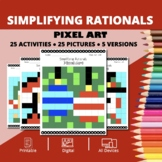 Christmas: Algebra Simplifying Rational Expressions Pixel