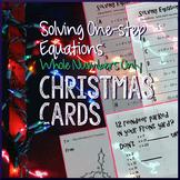Christmas Algebra – Solve One-Step Equations