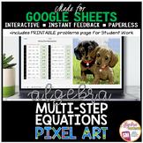 Google Sheets Digital Pixel Art Math Solving Multi Step Equations