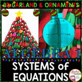 Christmas Algebra: Solving Systems of Equations 3D Garland
