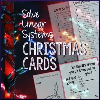 Christmas Algebra – Solving Systems of Linear Equations
