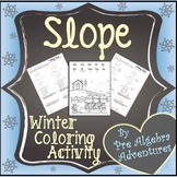 {Christmas Slope} {Slope Coloring Activity} {Finding Slope